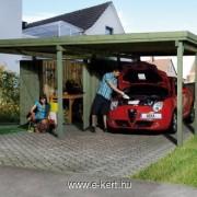 nyitott garázs