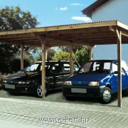 Nyitott garázs két autó részére