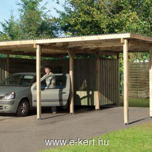 Weka duo carport építés, nynitott garázs gyártás