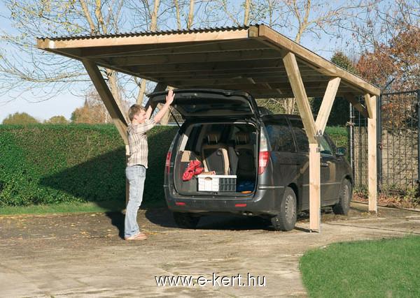 Praktikus nyitott garázs építés