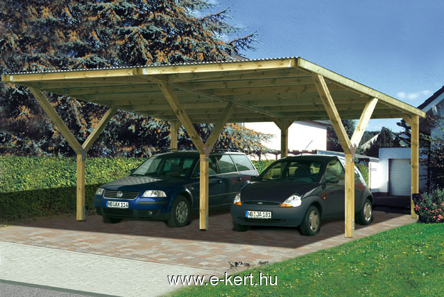 Nyitott garázs Weka carport duo Y