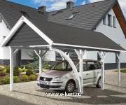 Nyeregtetős garázs építés