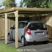 Nyitott garázs oldalfalakkal vagy oldalfalak nélkül