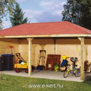 Weka pavilon garázs építés