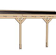 Terasz tető szerkezeti rajza