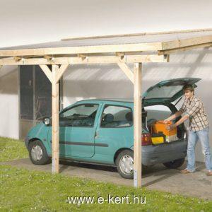 Terasz előtető vagy megtámasztott garázs, autóbeálló