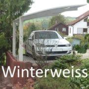 Fehér színű nyitott garázs Portoforte pf60