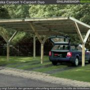 Nyitott garázs építés több autó számára is