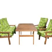 Pados garnitúra fotelekkel 656-os kerti párnákkal
