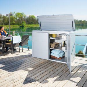 Biohort HighBoard fém kerti tároló szekrény