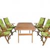 Összecsukható fa kerti székek párnákkal