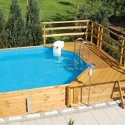 2db napozóterasszal épített medencénk
