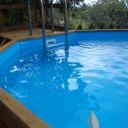 Beépített medence létra