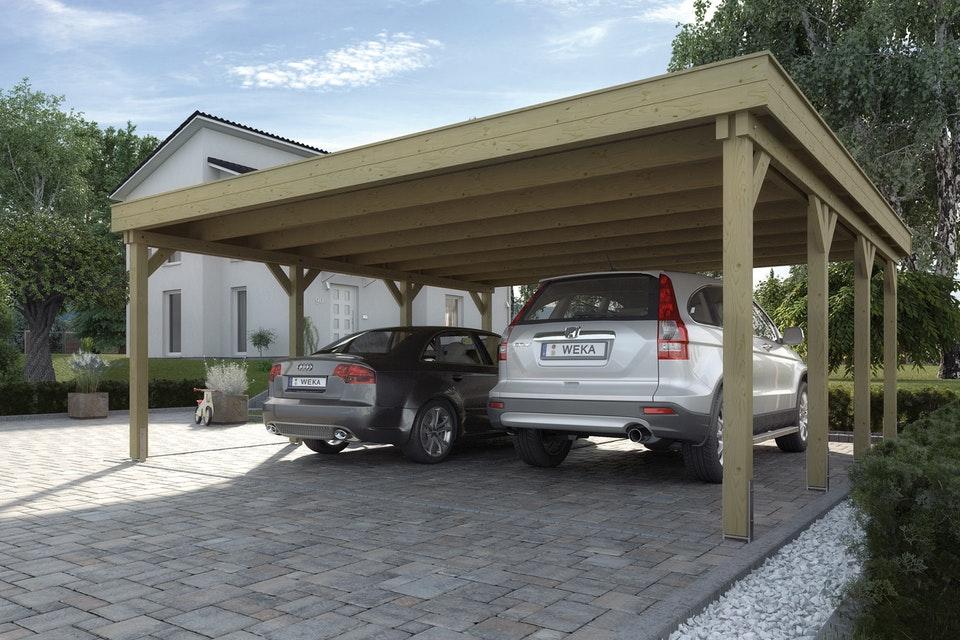 Nyitott garázs Weka carport duo 609_6060_10_00_jpg