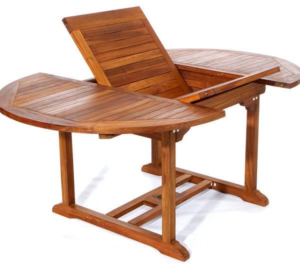 Bővíthető fa kerti asztal