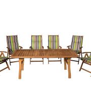 Masszív keményfa kertibútor akár 6-8 karfás székkel is rendelhető+ 654-es párna