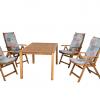 Keményfa kerti bútor 727-es nyugszék párnákkal