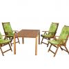4-személyes Solaris fa kerti bútor 656-os párnákkal