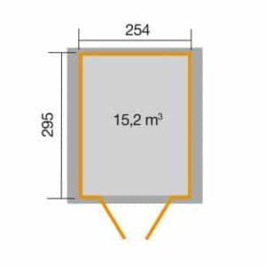 Weka 316-os szerszámtároló faház alapozási mérete