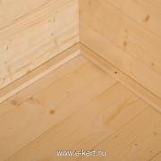 Padlózattal épített faház kivitel
