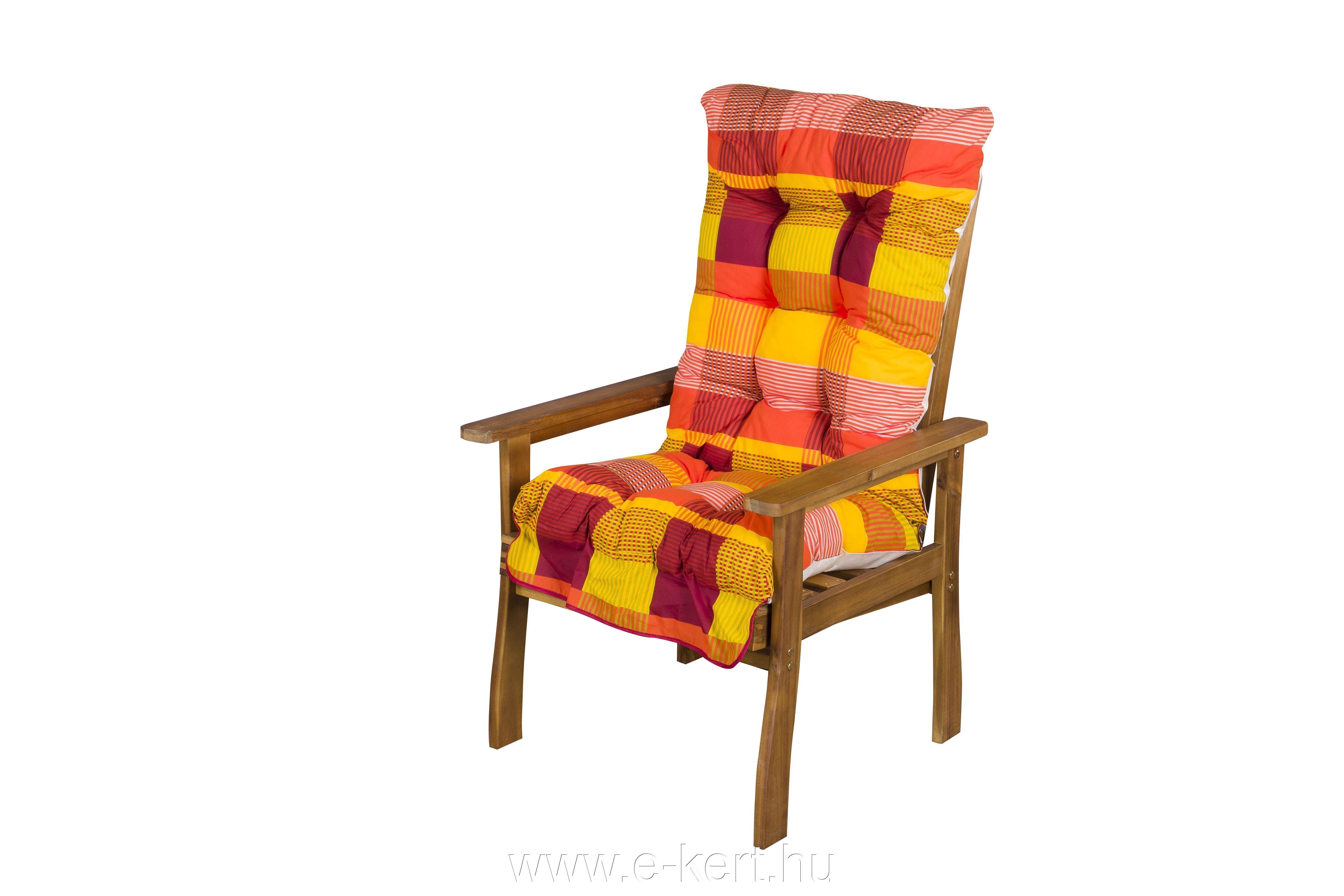 Masszív fa kerti fotel 502-es párnával