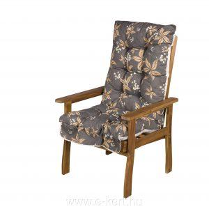 Akácia kerti fotel 3 pozícióban állítható