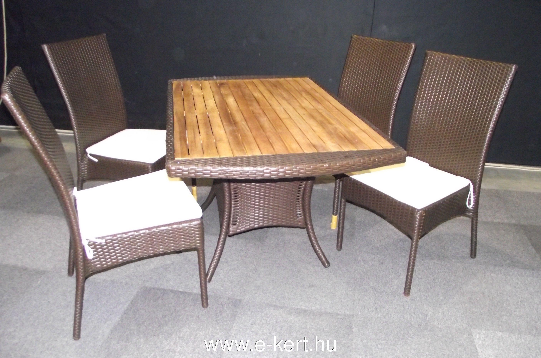 Rattan-fa terasz bútor