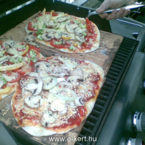Grill recept Pizza