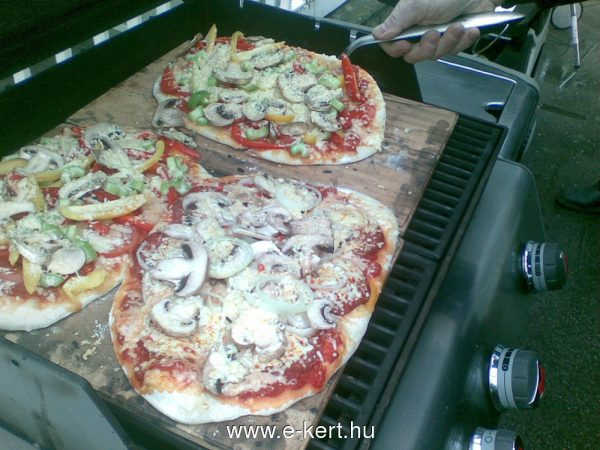 Grill recept Pizza -
