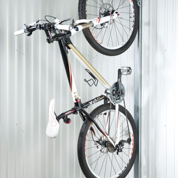 Prémium fém kerti tárolóba szerelhető kerékpártartó