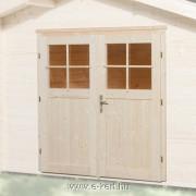 A faház kétszárnyú ajtóval is rendelhető