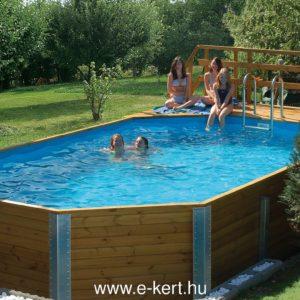 Gerendavázas kerti medencék