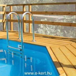Felszín feletti medence napozóterasz