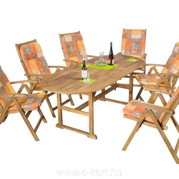 Keményfa kerti bútor 924-es szék párnákkal