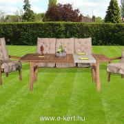 Relax pados keményfa kerti bútor D101-es vastag párnákkal