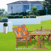 Kerti bútor pad + 2db kerti fotel terrakotta párnákkal