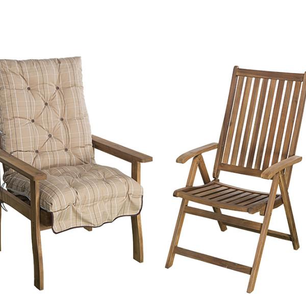 Akciós kerti bútor párna D101-es szövet, kerti székpárna