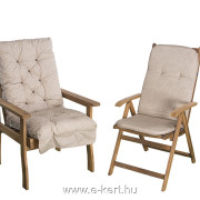 Fotelba és összecsukható szék MM07 párnákkal