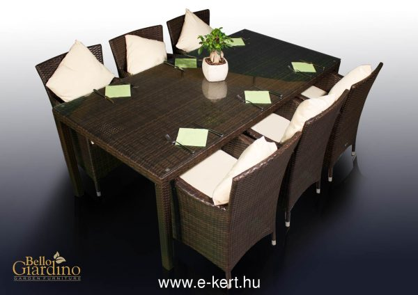 Rattan terasz bútor fotelekkel