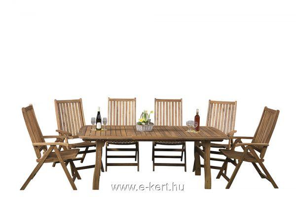 Relax keményfa kerti bútor 6sz