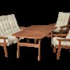 Masszív keményfa terasz bútor kényelmes P201-es párnákkal együtt néhány napon belül házhoz szállítva