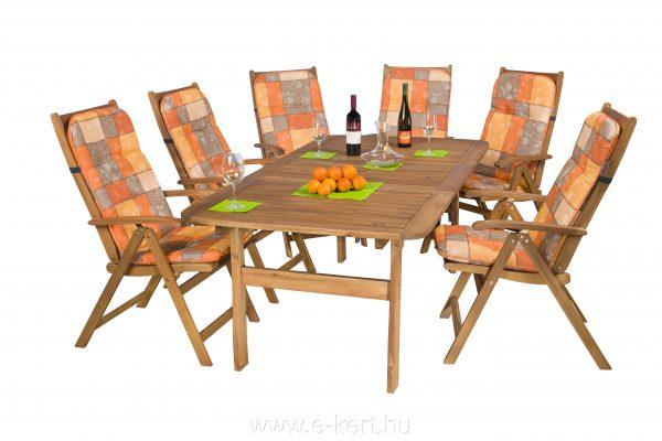 Akciós kerti bútor akácia Relax 6-személyes -