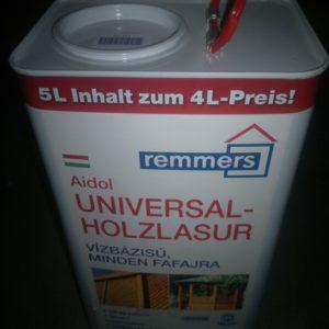 vékony lazúr tetszőleges RAL színben is rendelhető