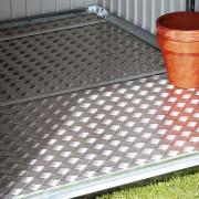 Fém kerti tároló alumínium padlózattal