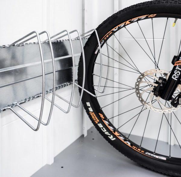 Könnyen beszerelhető biciklitartó Biohort tárolókba