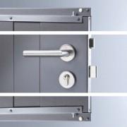 Fém kerti tároló ajtó