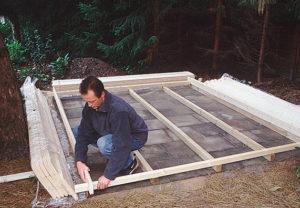 Faház alapozás, betonlemez készítés -