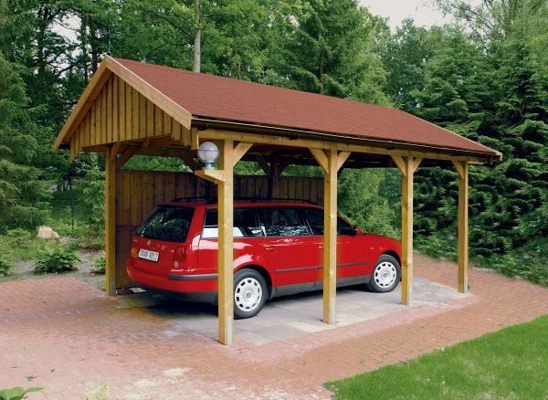 Prémium garázs építés fából egy vagy több autó részére