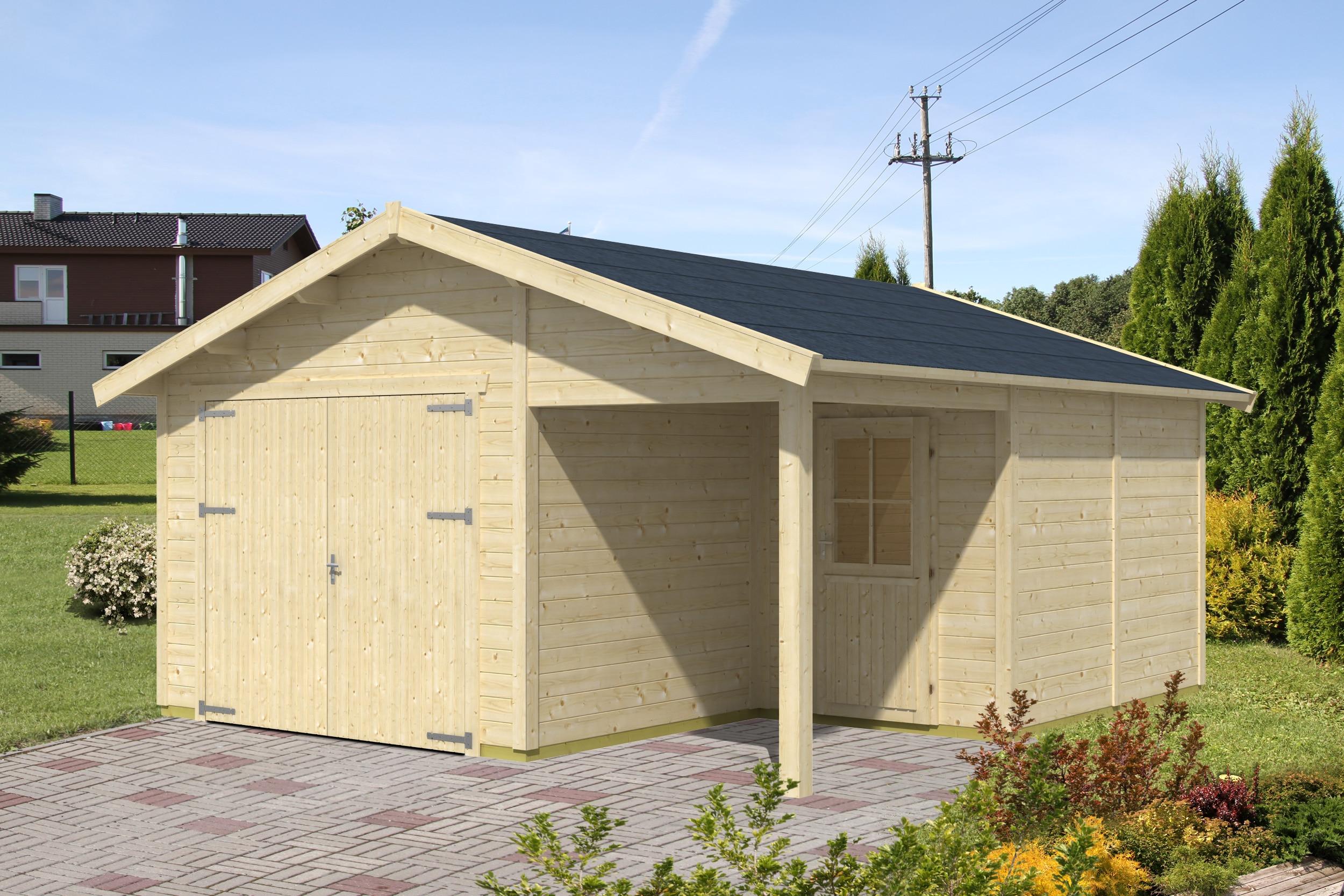 Zárt és nyitott garázsok építése különböző méretekben