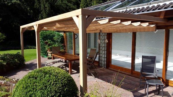 Pergola építés árnyékoló tetővel